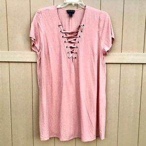 Forever 21 Pink Mauve Soft Casual Dress 2X